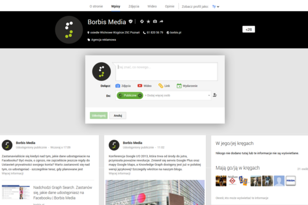 Nowe Google Plus