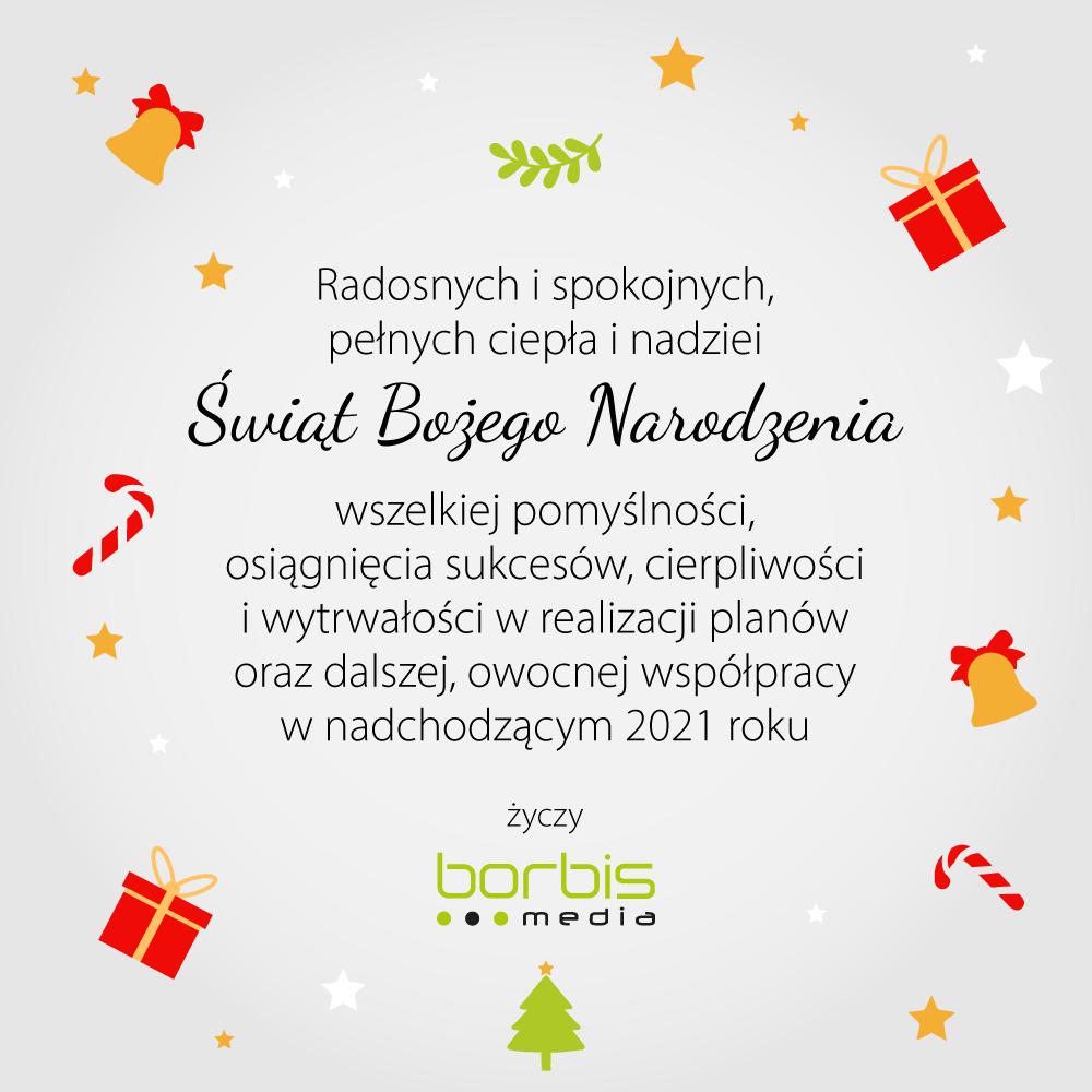 Życzenia świąteczne od Borbis Media